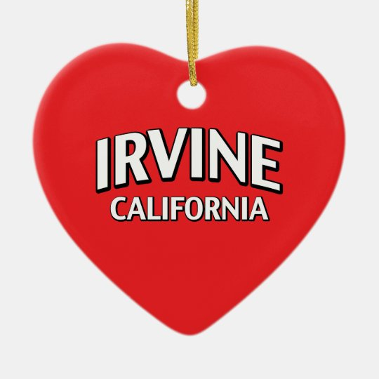 Irvine California Ceramic Ornament