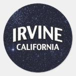 Irvine California Etiqueta Redonda