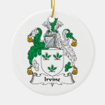 Irvine Family Crest Double-Sided Ceramic Round Christmas Ornament