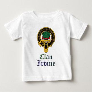 Irvine scottish crest and tartan clan name baby T-Shirt