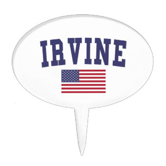 Irvine US Flag Cake Topper