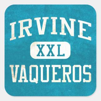 Irvine Vaqueros Athletics Square Stickers