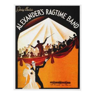 Irving Berlin's Alexander's Rag Time Band Panel Wall Art