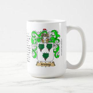 Irving, el origen, el significado y el escudo taza clásica