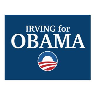 IRVING para el personalizado de Obama su ciudad pe Tarjeta Postal
