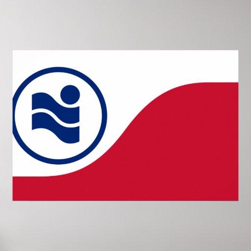 Irving, Texas, United States flag Poster