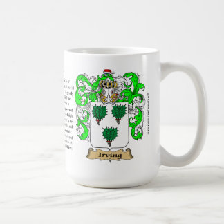 Irving, the Origin, the Meaning and the Crest Classic White Coffee Mug