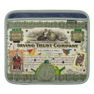 """""""Irving Trust Co."""" Vintage Stock Certificate iPad Sleeves For iPads"""