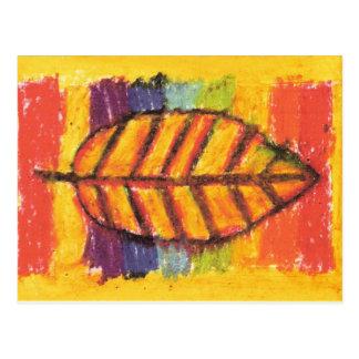 IRW Children's Artwork - Leaf Postcard