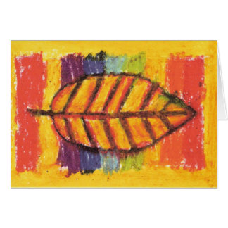 IRW Children's Artwork - Leaf Thank You Card