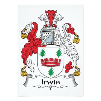 Irwin Family Crest Announcement