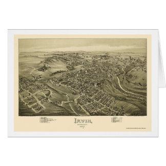 Irwin, PA Panoramic Map - 1897 Card