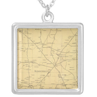 Irwin Township Square Pendant Necklace
