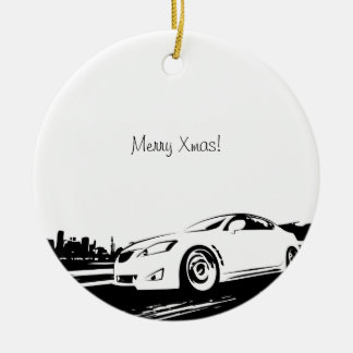 IS250 rolling shot Double-Sided Ceramic Round Christmas Ornament