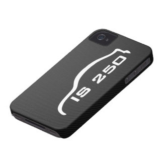 IS250 White Silhouette Logo with Faux Carbon iPhone 4 Cover