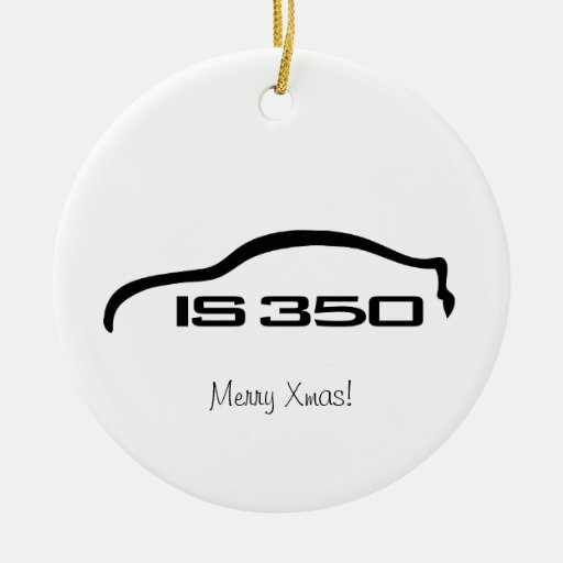 IS350 Black Silhouette Logo with Faux Carbon Ornament