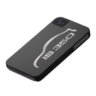 IS350 Silver Silhouette Logo with Faux Carbon iPhone 4 Case