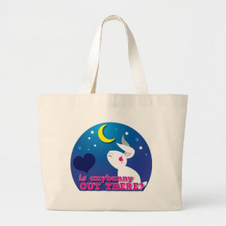 is anybunny out there? large tote bag