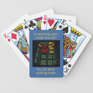 Is anything worn under the kilt? bicycle playing cards