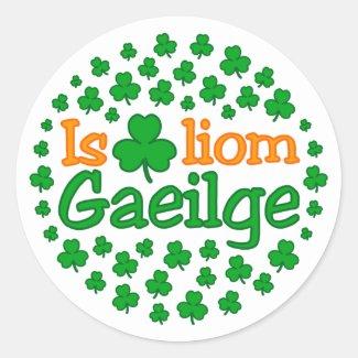 Is breá liom gaeilge (I love Irish) Sticker