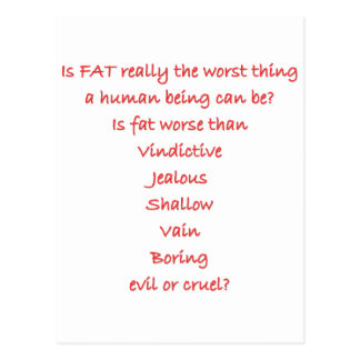 Is FAT really the worst thing Postcard