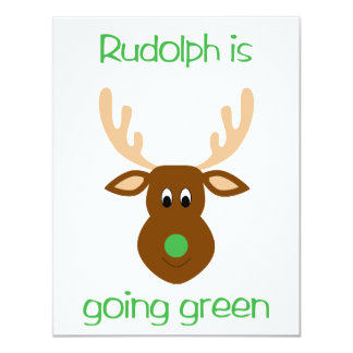 is going green Christmas gifts and tees. 4.25x5.5 Paper Invitation Card