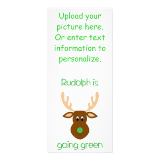 is going green Christmas gifts and tees. Rack Card