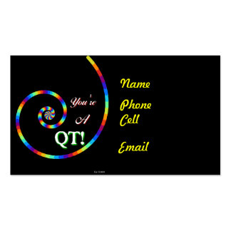 Is He A Cutie? Business Card