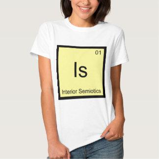 Is - Interior Semiotics Chemistry Element Symbol T T Shirt