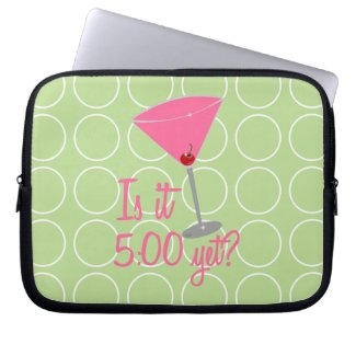 Is it 5:00 yet? Cosmopolitan Laptop Sleeve electronicsbag