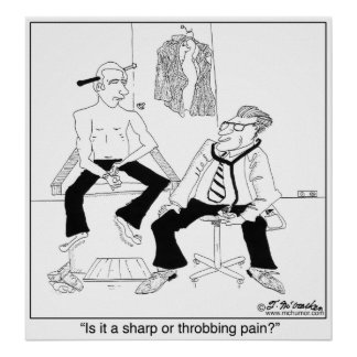 Is It a Sharp or Throbbing Pain? Poster
