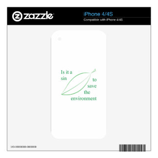 Is it a sin to save the environment iPhone 4S decals