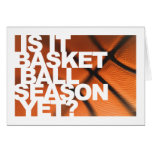 Is It Basketball Season Yet? Card