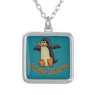 Is It Cold In Here Square Pendant Necklace