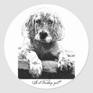 Is it Friday yet? Classic Round Sticker
