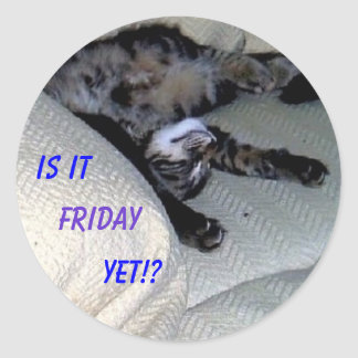 Is it Friday Yet!? Classic Round Sticker