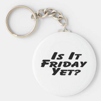 Is It Friday Yet Basic Round Button Keychain