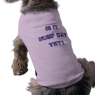 IS IT HUMP DAY YET? DOGGIE T SHIRT