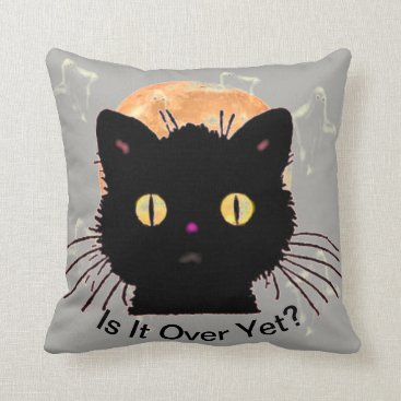 Halloween Themed Is It Over Yet Throw Pillow