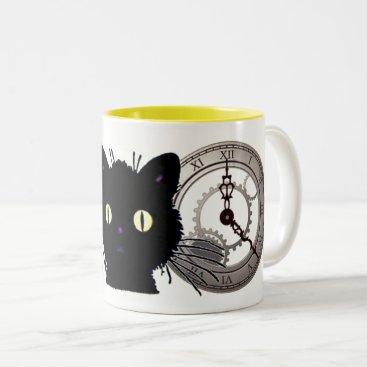 Halloween Themed Is It Over Yet Two-Tone Coffee Mug