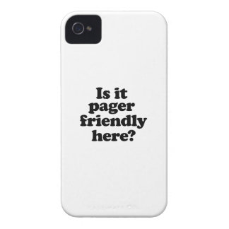 Is it pager friendly here iPhone 4 Case-Mate case