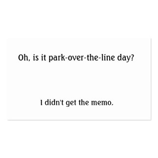 Is it park over the line day? Double-Sided standard business cards (Pack of 100)