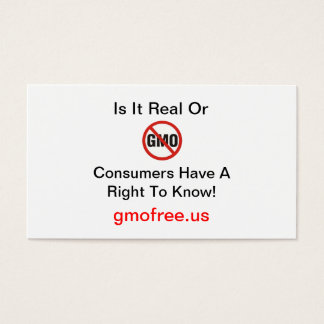 Is It Real or GMO Business Card