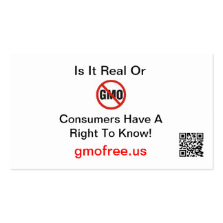Is It Real or GMO Business Cards