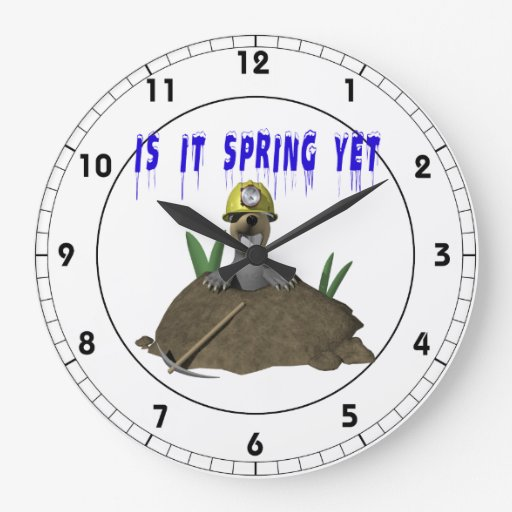 Is It Spring Yet Wall Clock