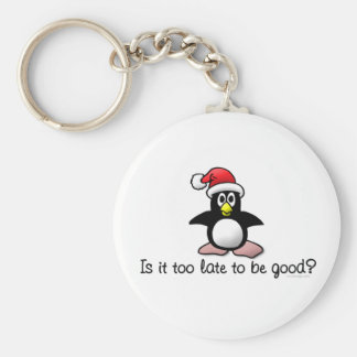 Is It Too Late To Be Good? Christmas Penguin Keychain