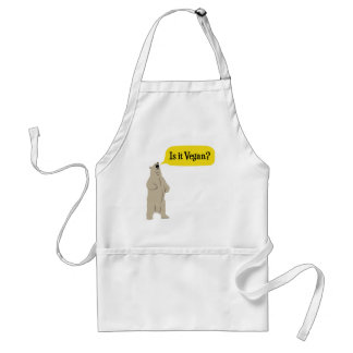Is it Vegan? Hungry Bear Adult Apron
