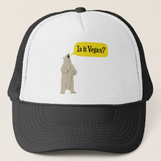 Is it Vegan? Hungry Bear Trucker Hat