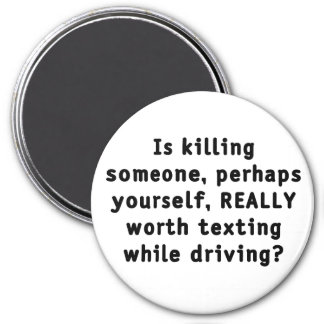 Is killing someone, perhaps yourself, REALLY...? 3 Inch Round Magnet