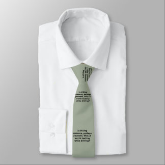 Is killing someone, perhaps yourself, REALLY...? Necktie